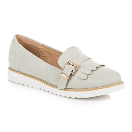 Vices Moccasins with a decorative buckle grey 3