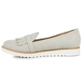 Vices Moccasins with a decorative buckle grey 4