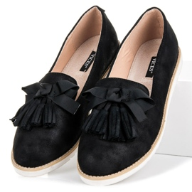 Vices Suede lords with fringes black 5