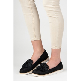 Vices Suede lords with fringes black 1