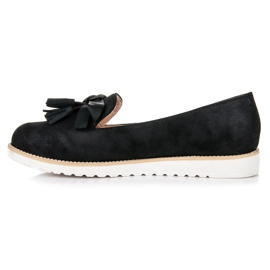 Vices Suede lords with fringes black 3