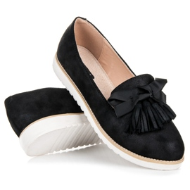 Vices Suede lords with fringes black 4