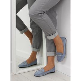 Women's loafers blue 9988-121 denim 1
