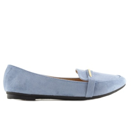 Women's loafers blue 9988-121 denim 2