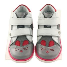 Bartek Girls' booties, rabbit, rabbit, 11702 pink red grey white 4