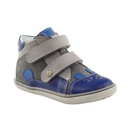 Boys' bootees, rabbit, Bartek 11702 grey blue 1
