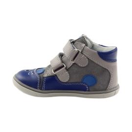 Boys' bootees, rabbit, Bartek 11702 grey blue 2