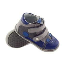 Boys' bootees, rabbit, Bartek 11702 grey blue 3