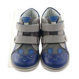 Boys' bootees, rabbit, Bartek 11702 grey blue 4