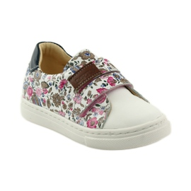 Girls' shoes for flowers Bartuś pink brown white 1