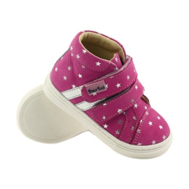 Girls' shoes in Bartuś stars pink grey 3