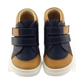 Boys' shoes for Velcro Bartuś navy brown 4
