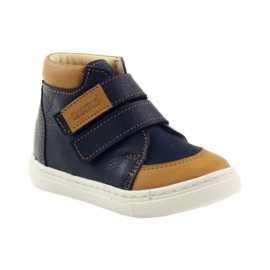 Boys' shoes for Velcro Bartuś navy brown 1