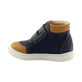 Boys' shoes for Velcro Bartuś navy brown 2