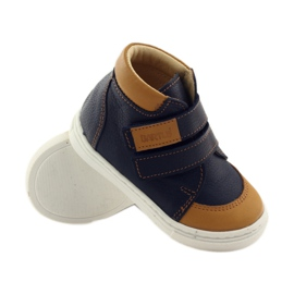 Boys' shoes for Velcro Bartuś navy brown 3