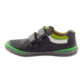 Shoes with a reflective element Bartuś green grey 2