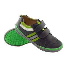 Shoes with a reflective element Bartuś green grey 3