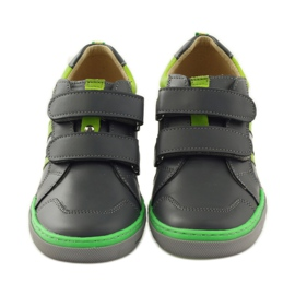 Shoes with a reflective element Bartuś green grey 4