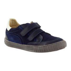 Boys' shoes, velcro Bartuś, navy blue 1
