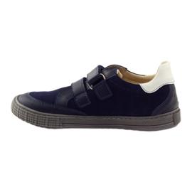 Boys' shoes, velcro Bartuś, navy blue 2