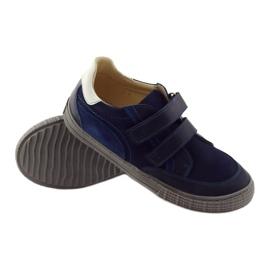 Boys' shoes, velcro Bartuś, navy blue 3