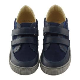 Boys' shoes, velcro Bartuś, navy blue 4