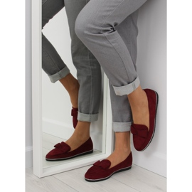 Loafers for women maroon 127-2 red 1