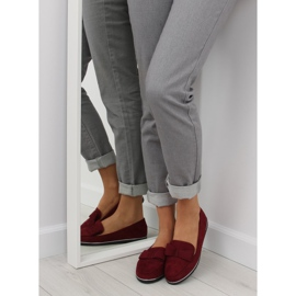 Loafers for women maroon 127-2 red 2
