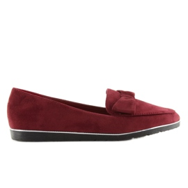 Loafers for women maroon 127-2 red 3