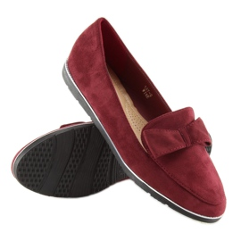 Loafers for women maroon 127-2 red 5