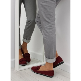 Loafers for women maroon 127-2 red 6