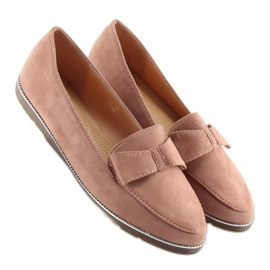 Women's loafers pink 127-2 pink 3