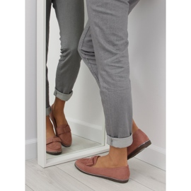 Women's loafers pink 127-2 pink 1