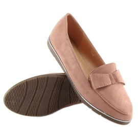 Women's loafers pink 127-2 pink 2