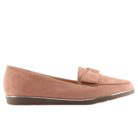 Women's loafers pink 127-2 pink 6