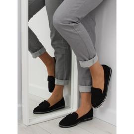 Women's loafers black 127-2 black 1