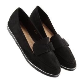 Women's loafers black 127-2 black 4