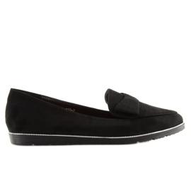 Women's loafers black 127-2 black 2