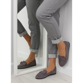 Women's loafers gray 127-2 gray grey 6