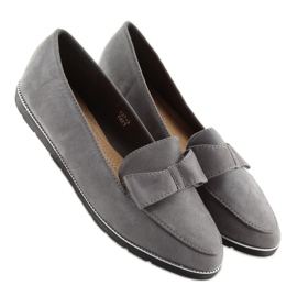 Women's loafers gray 127-2 gray grey 4