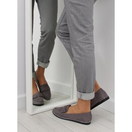 Women's loafers gray 127-2 gray grey 1