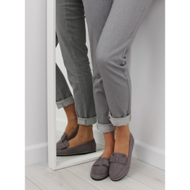 Women's loafers gray 127-2 gray grey 2