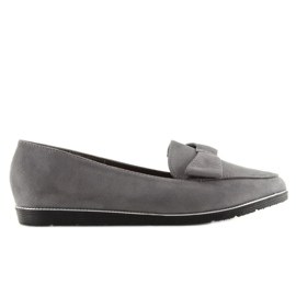 Women's loafers gray 127-2 gray grey 3
