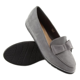 Women's loafers gray 127-2 gray grey 5