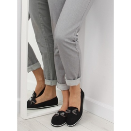 Women's black moccasins JN-182 black 3