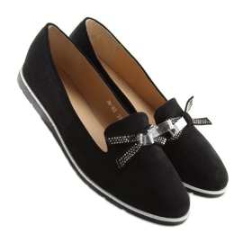 Women's black moccasins JN-182 black 4
