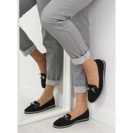 Women's black moccasins JN-182 black 1