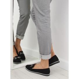 Women's black moccasins JN-182 black 2