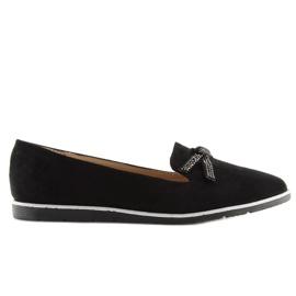 Women's black moccasins JN-182 black 5
