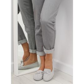 Women's loafers gray JN-182 gray grey 3